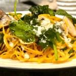 Gresskarpasta med spinat