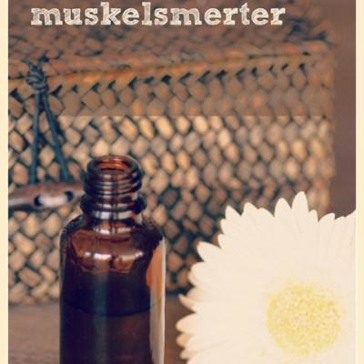 Avslappende olje mot muskelsmerter