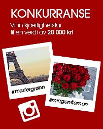 Konkurranse til Valentine fra Mester Grønn på Instagram