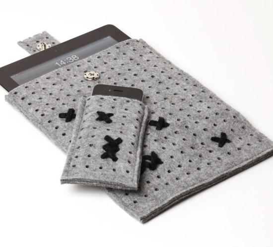 DIY Lag selv cover til mobil og iPad av filt