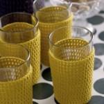DIY: Heklet trekk til glass og flaske