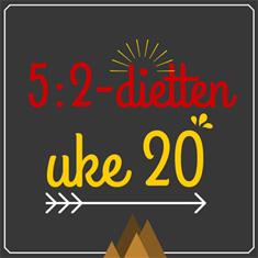 5-2-dietten dagsmeny uke 20