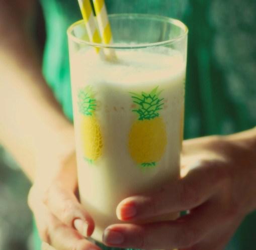 Lavkarbo jukse-Piña Colada med sukkerfri ananassaft