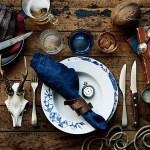Maskulin og røff borddekking til herrefesten