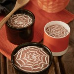 Eplesuppe med spindelvev av vaniljekesam