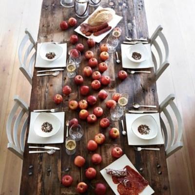 Dekk bordetenkelt og effektfullt til eplekjekk fest