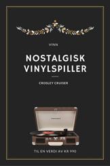 KONKURRANSE – Vinn platespiller i nostalgisk stil til jul!