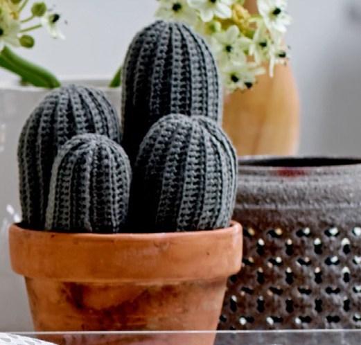 Gratis mønster på heklet kaktus