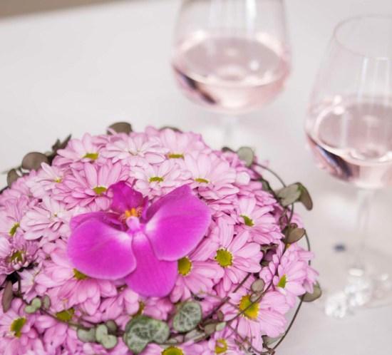 BORDDEKKING - konfirmasjon - festbord - rosa