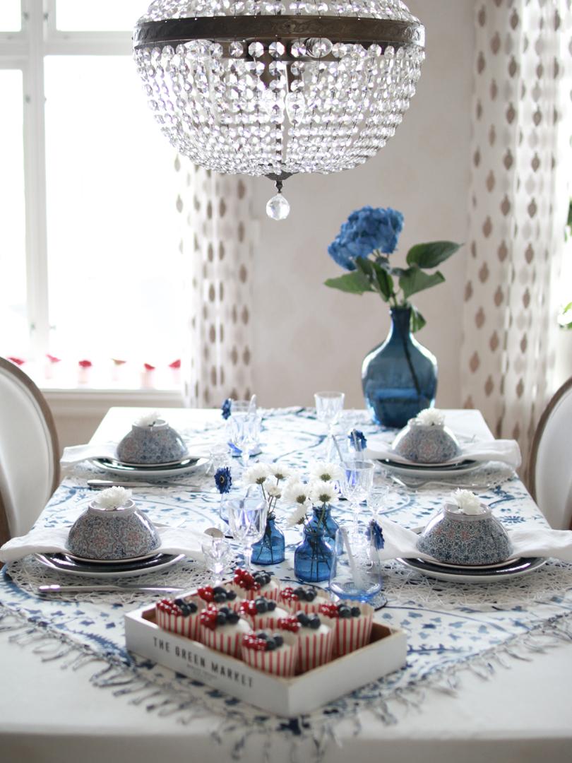 008 Dekking av klassisk og elegant bord til nasjonaldagen