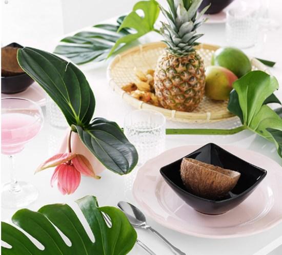 TROPISK borddekking, interiørtips, DIY, planter, blogg, blomster