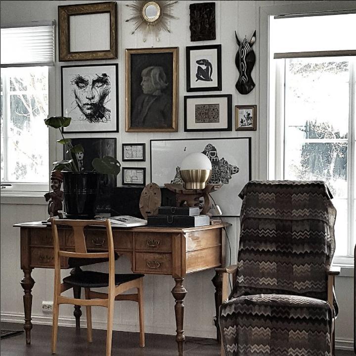 Bruktfunn - DIY - skrivebord hos Hildegard