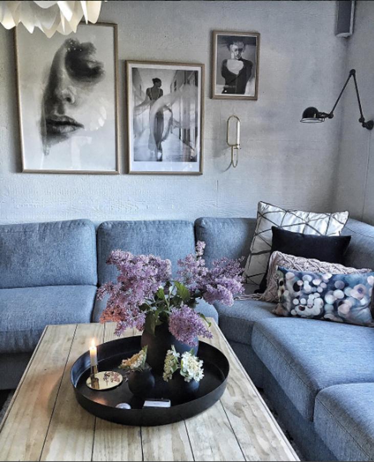 Hjemmekoselig, nytt, gammel og trendy hjemme hos Kristin