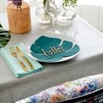 Lag selv dekorasjonsblad som gjør seg på festbordet