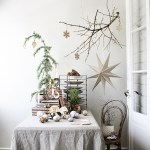 Julens festbord har naturfarger og -materialer i år