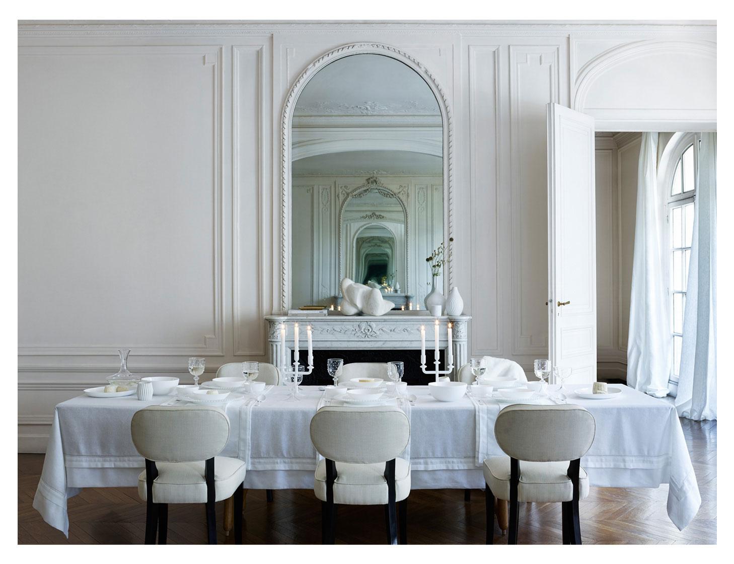 BORDDEKKINGSTIPS Hvitt bord fra Zara Home Pure White