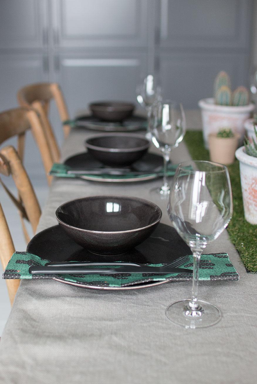 BORDDEKKING Kreativt bord med planter