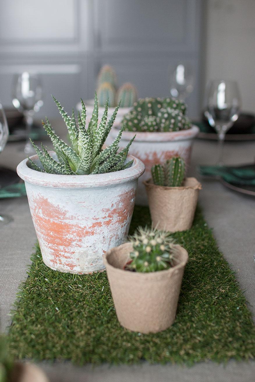BORDDEKKINGSTIPS Kreativt bord med planter