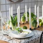 Grønt og spiselig på bordet