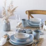 5 kreative bord med serviset Coastal Blue