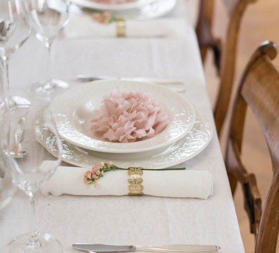Wedding tables in 3 different styles