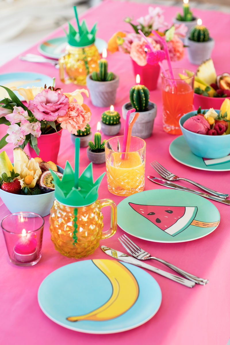 Tablesetting tropical
