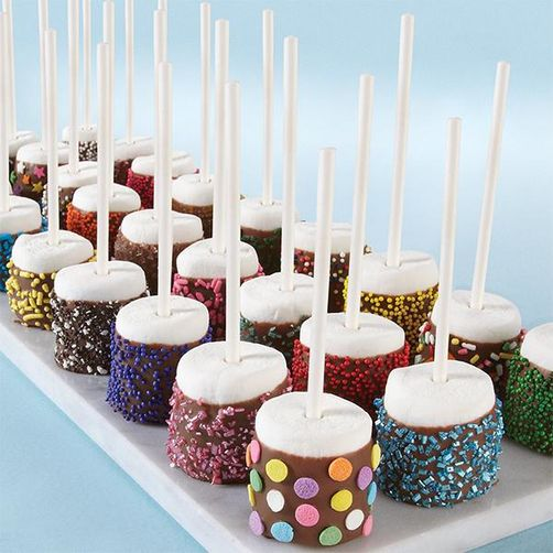 Marshmallows with Wilton Candy Melt and Funfetti