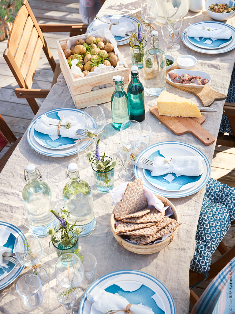 midsummer table by the sea