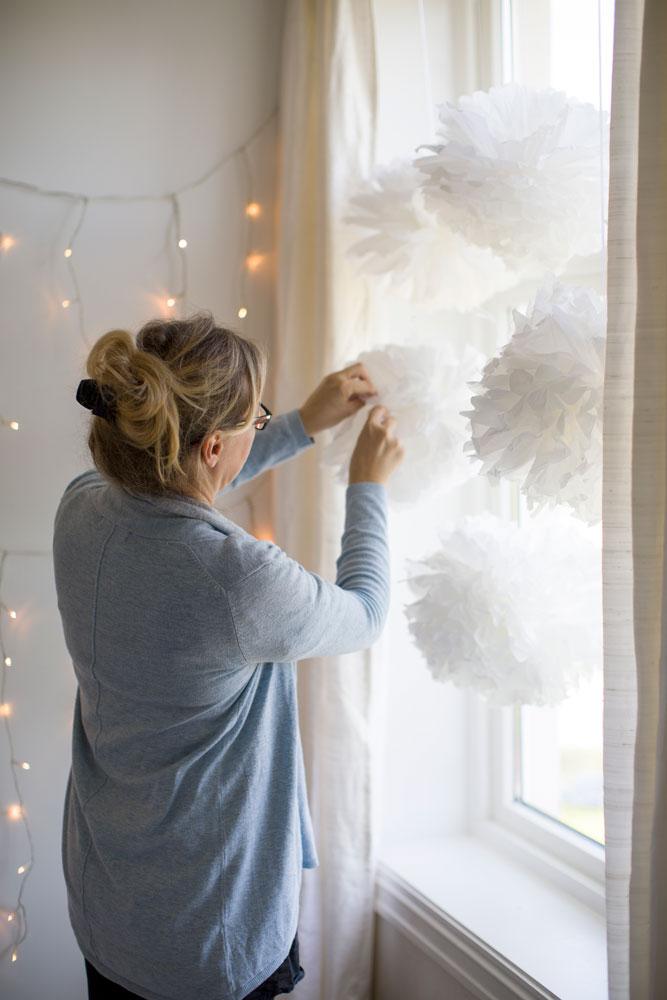 Hvordan lage pomponger av papir - oppskrift på BLOGG mariannedebourg.no