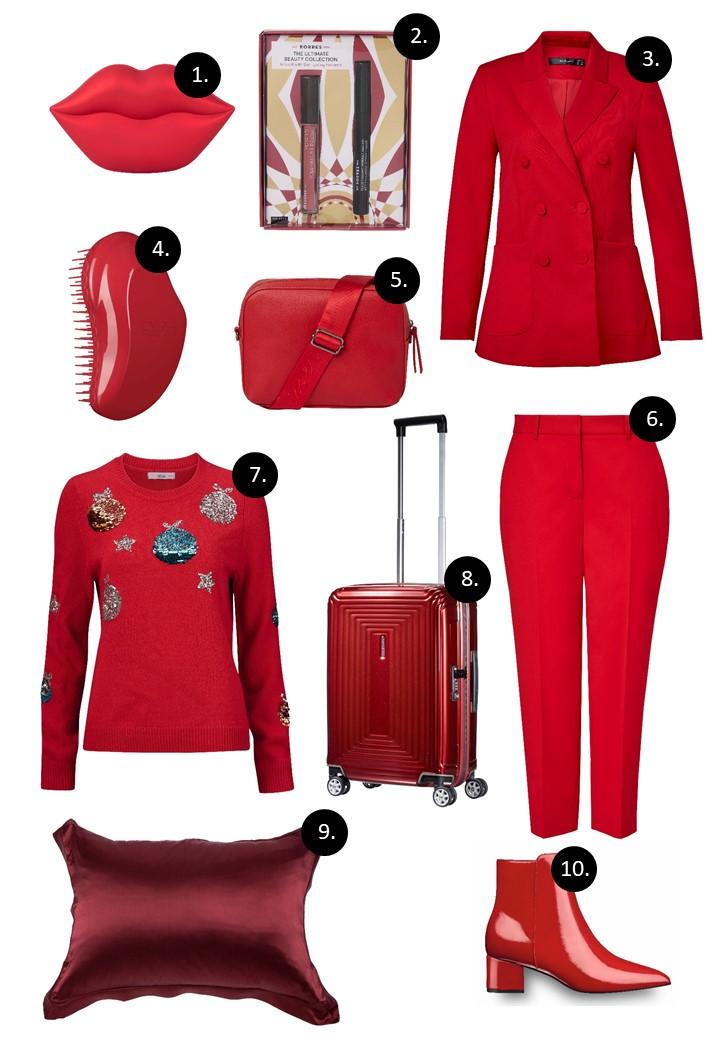 Julegavetips i rødt