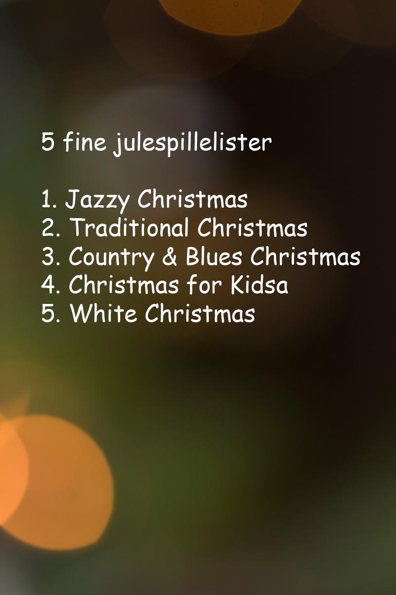 Liste med 5 julespillelister