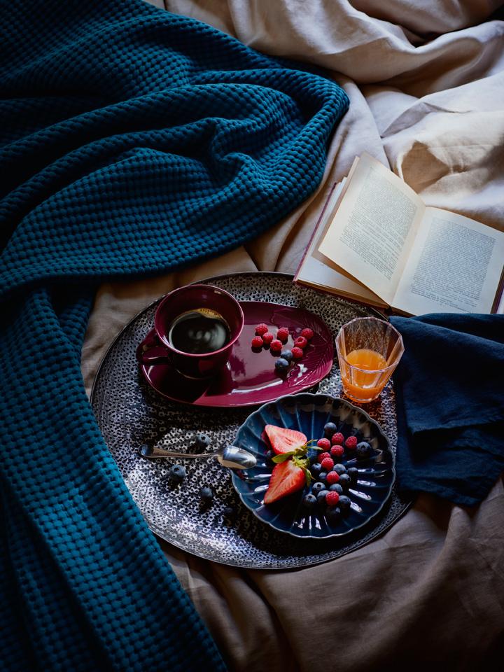 Frokost på sengen.