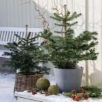 10 ideer til pynting av inngangsparti til jul