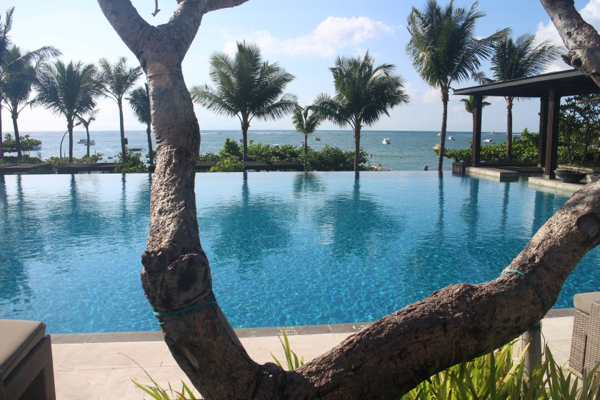 First morning in Bali. View from the main pool of the Fairmont hotel in Sanur.