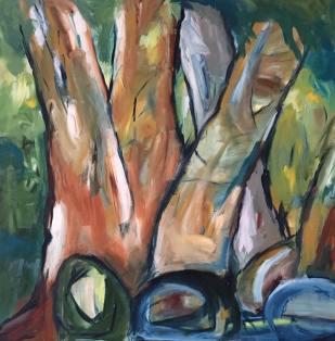 Marselisborg Skov I, 80 x 80 cm, kr. 6.000,-