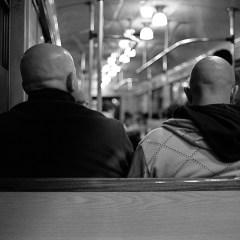Bald heads.
