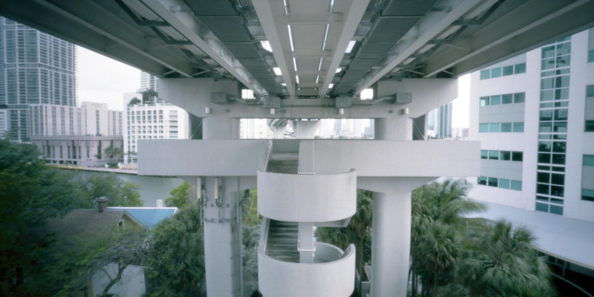 Metromover station, Miami, USA.