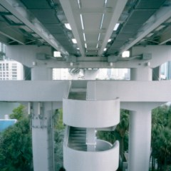 Metromover station, Miami, USA.