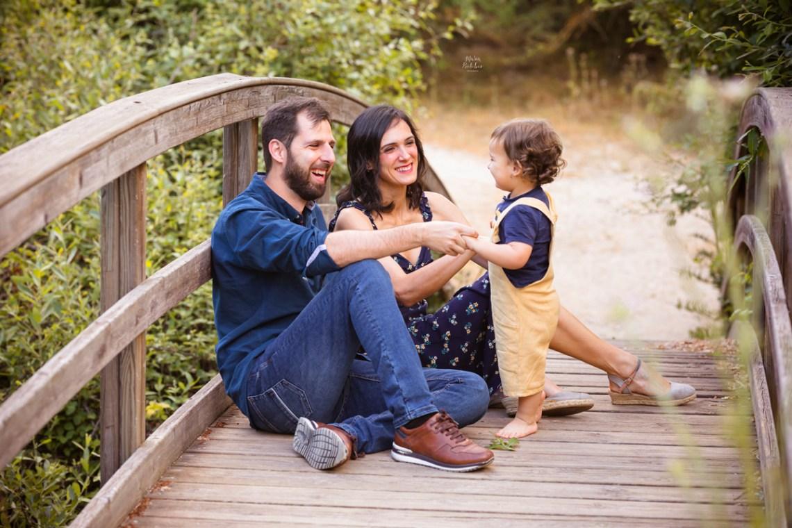 foto de padres con bebe