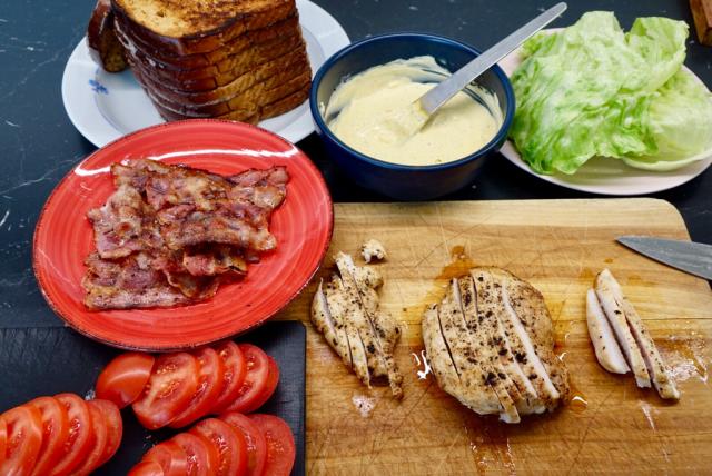 Club Sandwich med kyckling