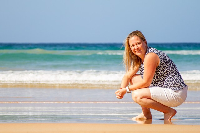 Maria på Manly Beach, Sydney
