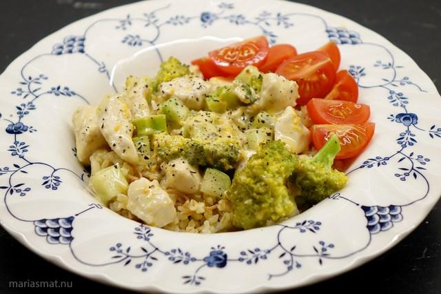 Apelsinkyckling med broccoli