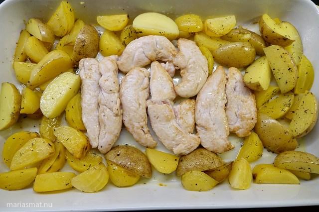 Kyckling med gulbetor
