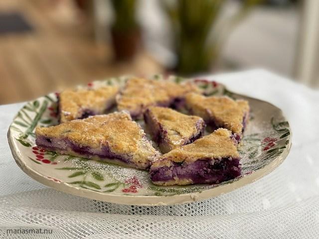 Vaniljrutor med blåbär