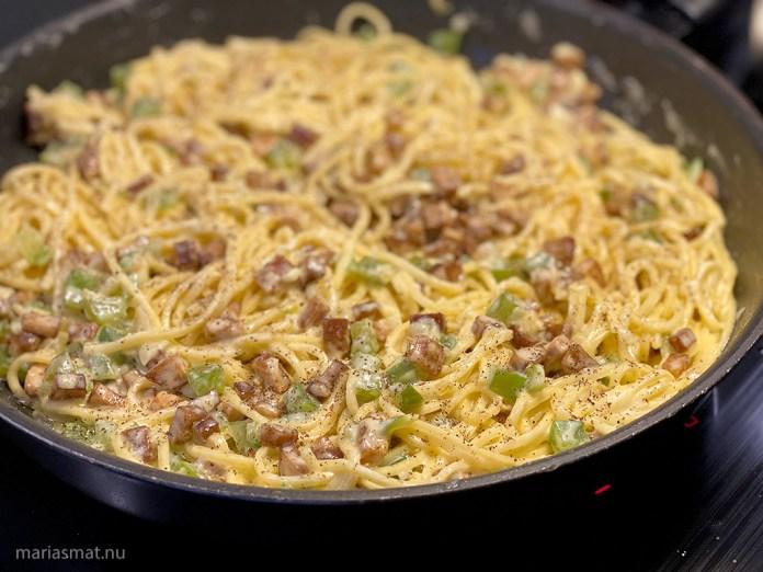 Vegetarisk Pasta Carbonara