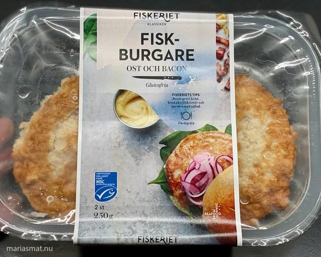 Fiskburgare till middag