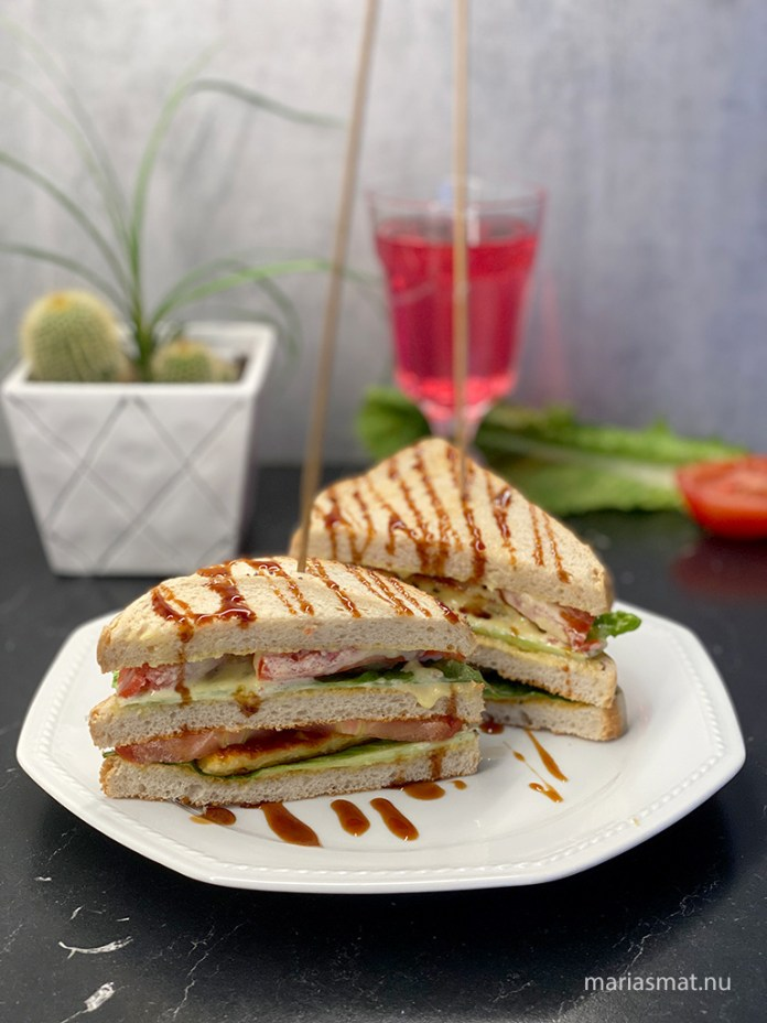 Ceasar Club Sandwich med grillost
