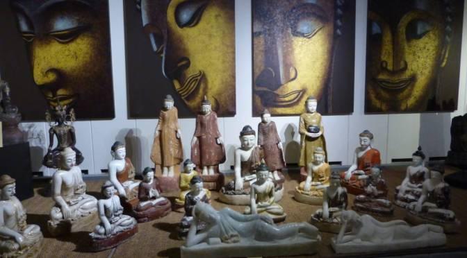 Oude Voetafdrukken van Gautama Boeddha