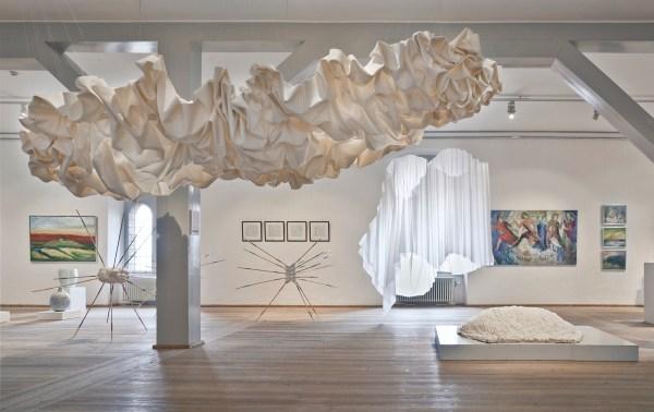 Draped Fabric Art Installations