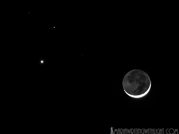 fine art prints martha's vineyard, moon with venus